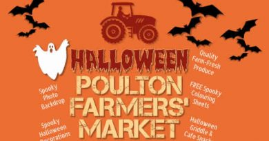 Poulton Framers Market Halloween Poster