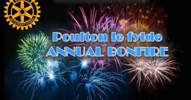 Poulton le Fylde annual bonfire night rotary club